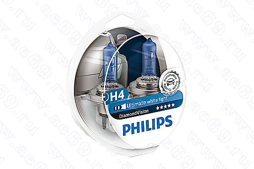 "Лампа галог. H4 12*60*55 ""Philips"" Blue Vision ultra Германия (к-т 2 шт.)"